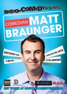 Comedian Matt Braunger is performing at the Boston Comedy Festival this year.