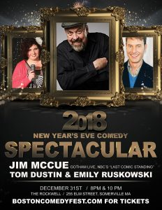 Somerville New Years Eve Comedy with Jim McCue