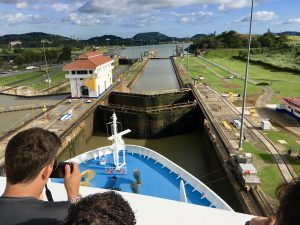Who let a comedian in the Panama Canal